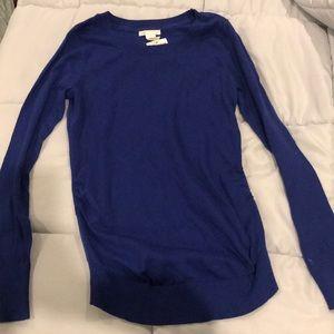 Blue maternity sweater